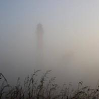 Nordseeinsel Pellworm Leuchtfeuer Nebel Cafe Anticus